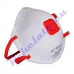 Маска за дихателна защита клас FFP2 с клапа и активен въглен