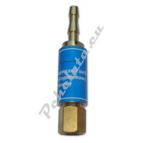 Предпазен клапан за кислород към горелка